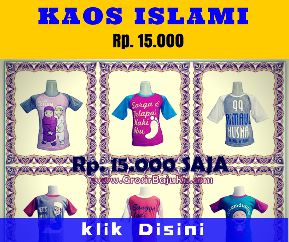 Grosir Kaos Islami Murah