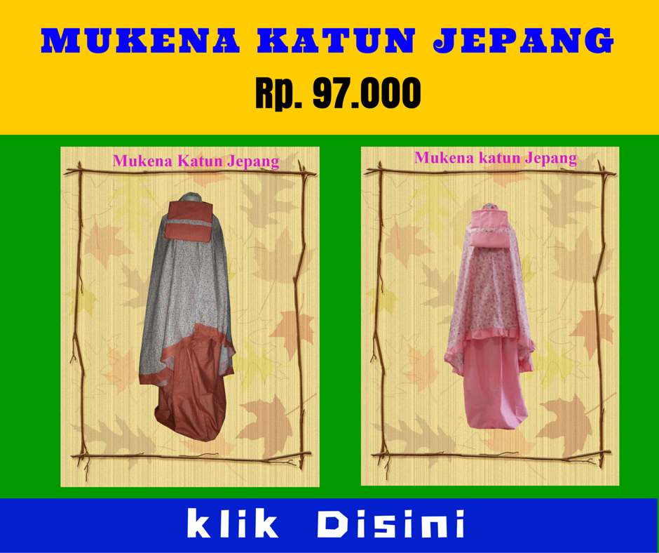 Grosir Mukena Katun Jepang Murah