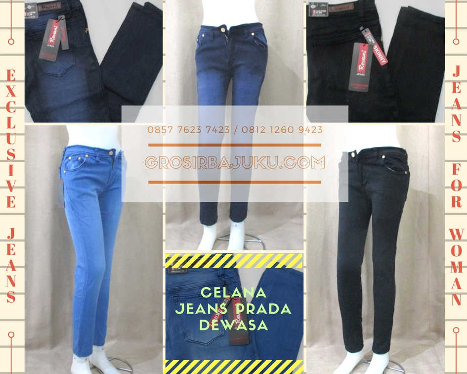 Grosir Celana Jeans Prada Wanita Dewasa Murah Tanah Abang