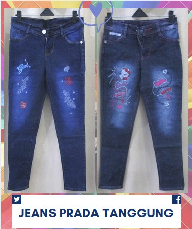 Grosir Celana Jeans Cewek Tanggung Murah Tanah Abang