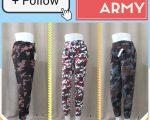 Grosir Celana Jogger Army Wanita Dewasa Termurah