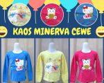 Pusat Grosir Kaos Minerva Cewe TP Anak Perempuan Murah