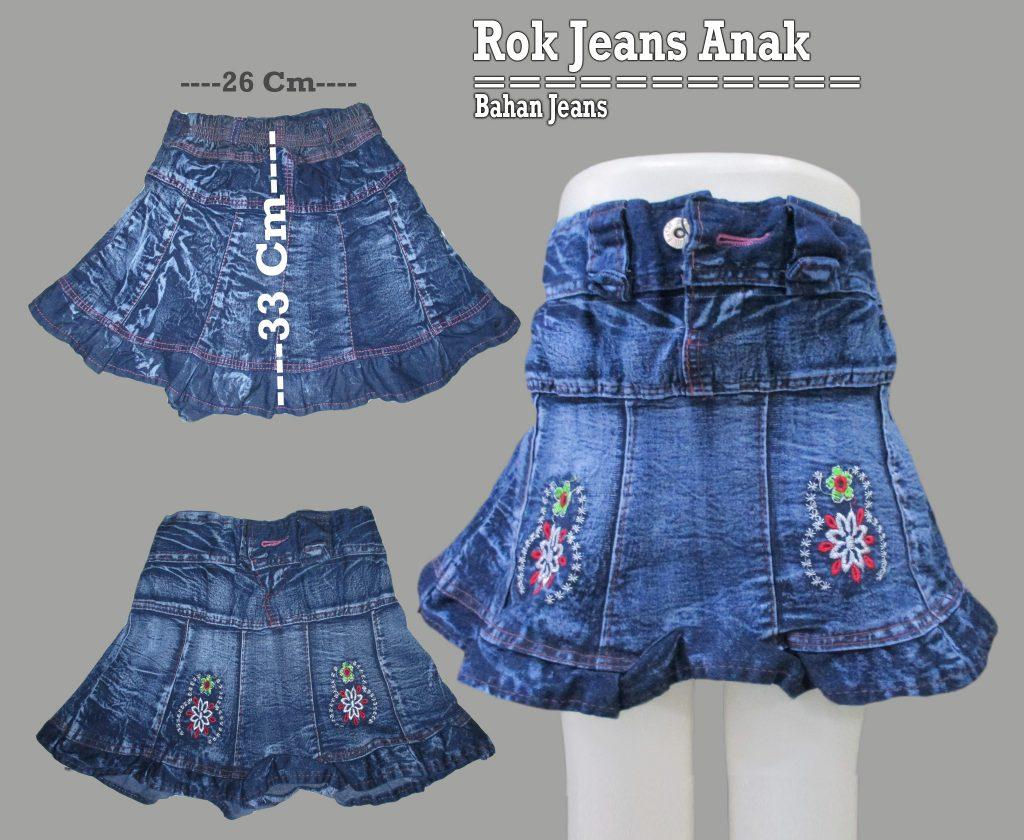 Grosir Rok Jeans Anak Terbaru Murah 17Ribuan