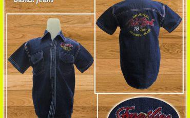 Grosir Kemeja Jeans Bordir Murah 28ribuan