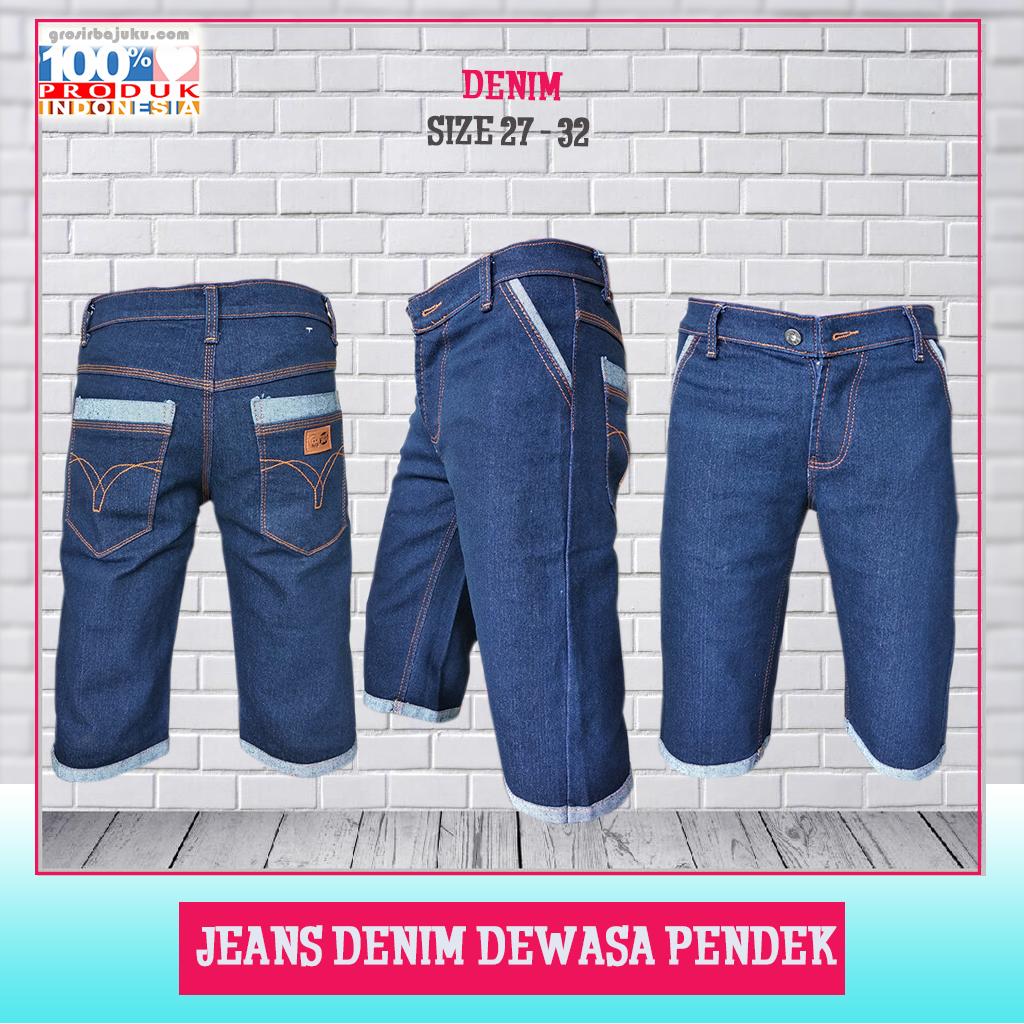 Jeans Denim Dewasa Pendek