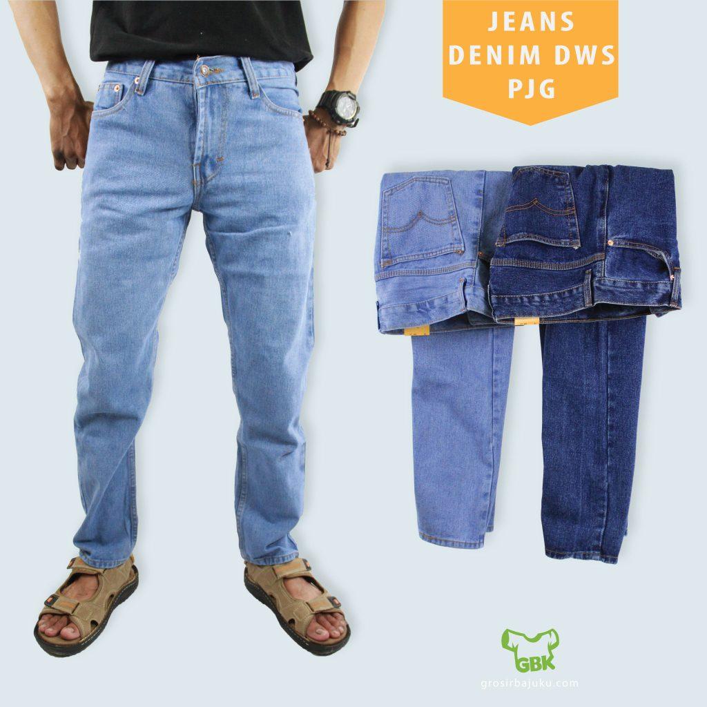 Jeans Denim Dewasa Panjang