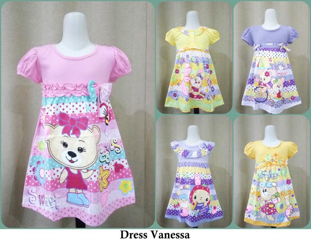 Pusat Grosir Dress Vanessa Anak Perempuan Termurah