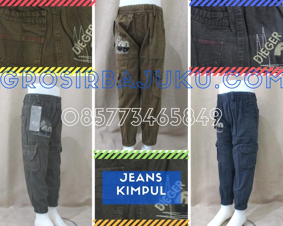 Sentra Grosir Celana Jeans Kimpul Anak Laki Laki Murah